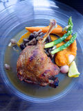 Duck roasted dish Stock Image