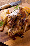 Duck Roasted with Quince Royalty Free Stock Photos