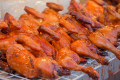 Duck Roasted for sale at market Stock Image