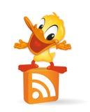 Duck - RSS illustration. For design Royalty Free Illustration