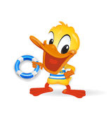 Duck - Sailor illustration. Duck - Sailor Royalty Free Stock Image