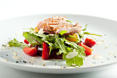 Duck Salad with Fruit Royalty Free Stock Photos