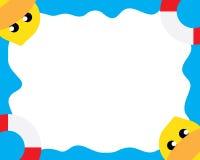 Duck Sea Wallpaper Fotografia Stock
