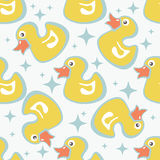 Duck seamless pattern Stock Photography