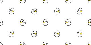 Duck seamless pattern vector rubber ducky isolated cartoon illustration bird bath shower repeat wallpaper tile background gift wra. P white cute royalty free illustration