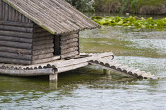 Duck shelter on lake Stock Photos