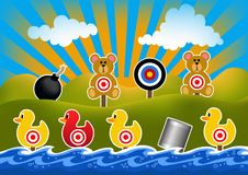 Duck Shoot Game Illustration images libres de droits