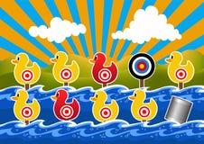Duck Shoot Game Vector Illustration image libre de droits