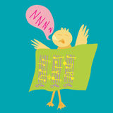 Duck Sleep With Music Notes Stock Photos