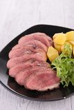 Duck sliced and vegetables Stock Image