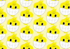 Duck smile cartoon pattern. Duck smile yellow color cartoon pattern on background vector royalty free illustration