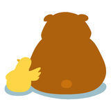 Duck soothe bear cartoon character  Royalty Free Stock Photography