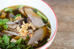 Duck Soup In Bowl Stock Image