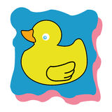 Duck. On special blue background Stock Image
