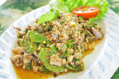 Duck Spicy Salad picadito con las hierbas Imagenes de archivo