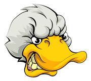 Duck sports mascot Royalty Free Stock Photos