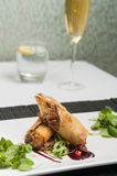 Duck spring rolls Stock Images