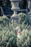 Duck statues in english garden. Vintage style Royalty Free Stock Image