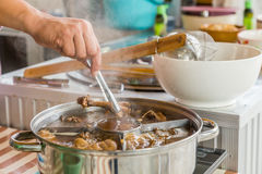 The duck stewed in the gravy sauce in Thailand Royalty Free Stock Images