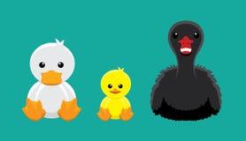 Duck Swan Doll Set Cartoon vektorillustration Royaltyfria Foton