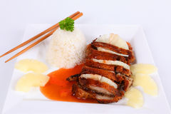 Duck with sweet sour sauce Stock Photography