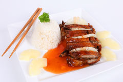 Duck with sweet sour sauce Royalty Free Stock Photo