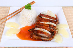 Duck with sweet sour sauce Stock Photo
