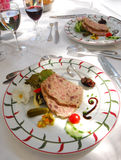 Duck terrine. French style Duck terrine slice Royalty Free Stock Photography