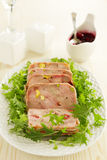 Duck terrine with pistachios Royalty Free Stock Images