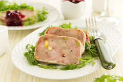 Duck terrine with pistachios Stock Photography