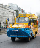 Duck tour bus in London, England Royalty Free Stock Images