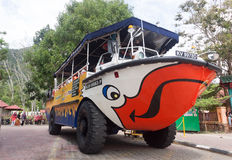 Duck Tour in Langkawi Island, it is a tourist boat / bus. Stock Photos