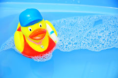 Duck Toy. For baby in the bath Stock Photos