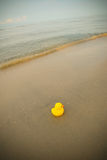 Duck Toy On Beach royalty-vrije stock fotografie