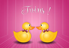 Duck toy for twin girls Stock Photo