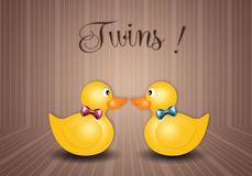 Duck toy for twins male and female Royalty Free Stock Photography