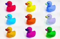 Duck toys Stock Images