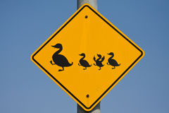 Duck traffic sign Stock Photos