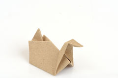 Duck Turtle with old paper folding. Duck art made from old paper Handmade cute animals stock photography