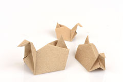 Duck Turtle with old paper folding. Royalty Free Stock Photos