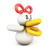 Duck twisted balloons Stock Images