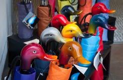 Duck umbrella Stock Images