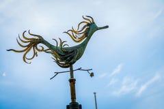 Duck Weathervane and blue sky in Melbourne, Victoria, Australia stock image