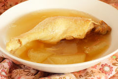 Duck and winter melon soup Stock Images