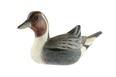 Duck. Wooden duck on white background Royalty Free Stock Photo