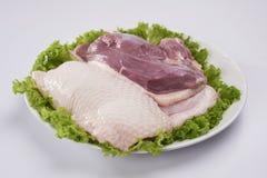 Ducken Sie Fleisch lizenzfreie stockbilder