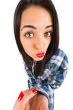 Duckface-Mädchen Stockbilder