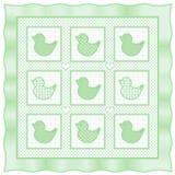 duckies зеленый il l quilt пастели Стоковая Фотография
