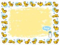 duckies мальчика обрамляют желтый цвет Стоковая Фотография RF