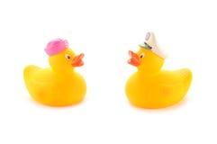 Duckies de borracha amarelos Fotografia de Stock Royalty Free